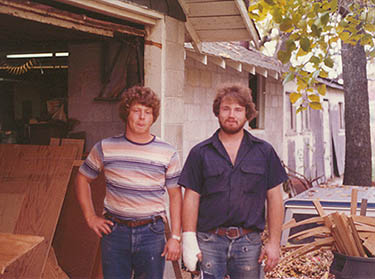 Curt McCoy and John Stark outside MSW in the fall of 1977.